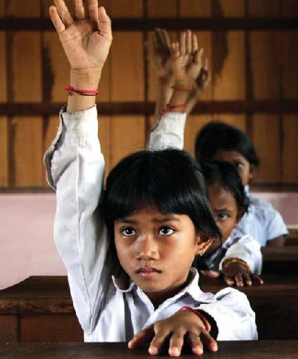 cambodia girl in school