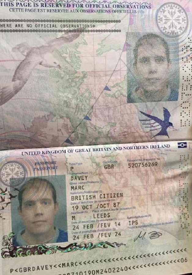 marc davey passport
