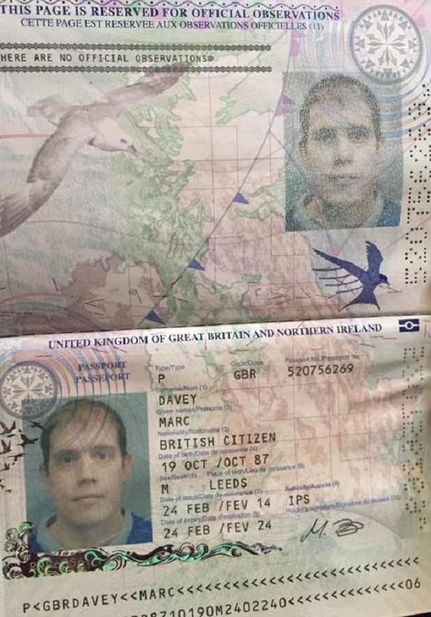 marc davey passport