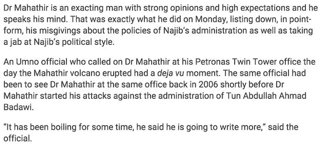 Dr Mahatir