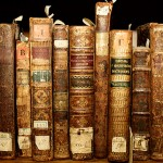 collection of old hardcover books