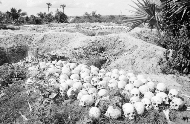 Khmer Genocide skulls